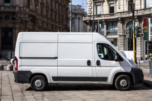 Courier express white van